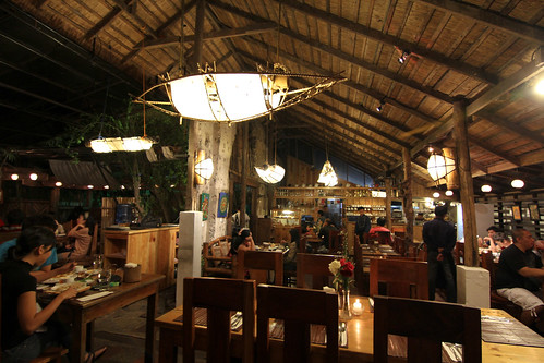 Inside Cafe by the Ruins (at night)