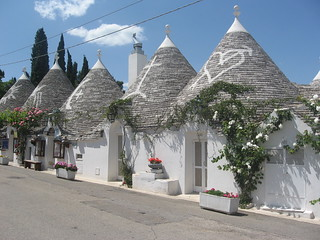 Trulli houses in Alberobello, Italy.