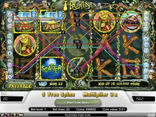 Trolls bonus game