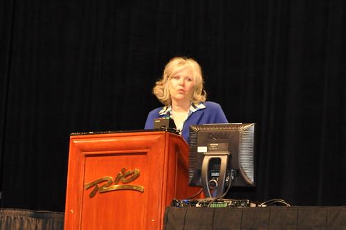 Sec. Jane Oates presenting