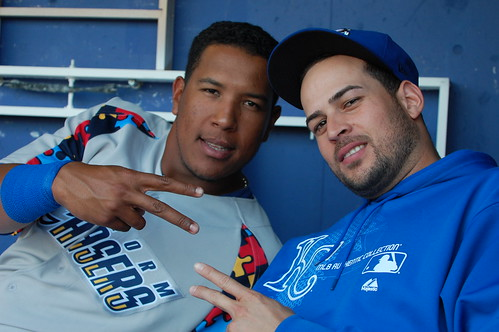 Salvador Perez and Jonathan Sanchez