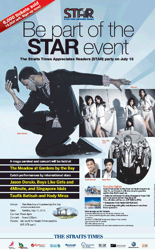 The Straits Times STAR Concert 2012