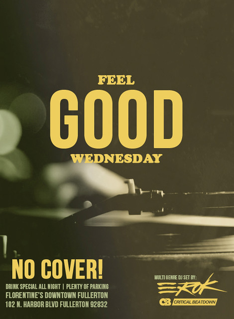 FEEL GOOD WEDNESDAY FLYER