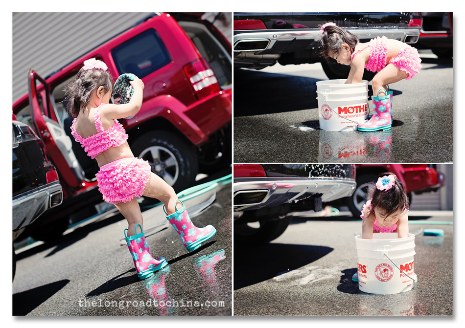 Reagan Washing The Cars Collage BLOG