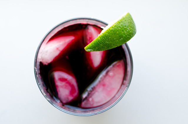 Hibiscus Tea with Lime 2 by Mary Banducci