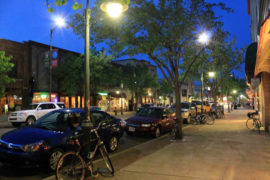 Downtown Traverse City, Michigan - Wading in Big Shoes