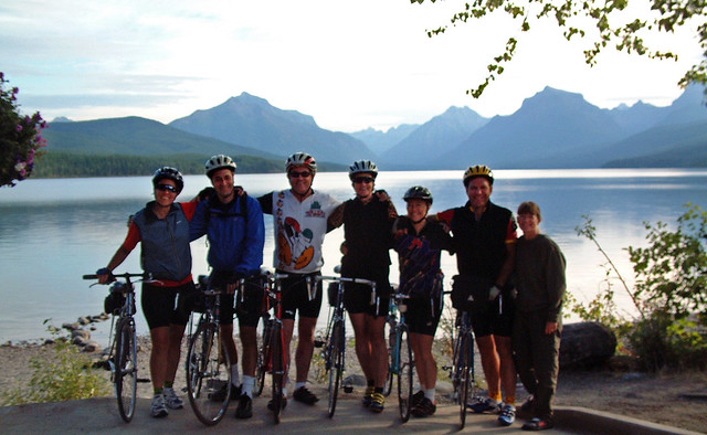 The group at Lake McDonald