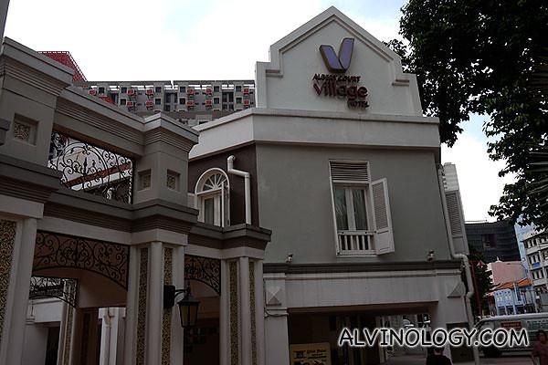 Exterior of the chic Albert Court Village Hotel