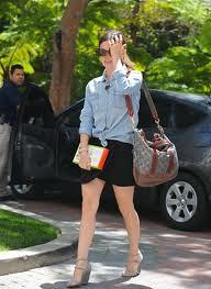 Rachel Bilson Denim Shirt Celebrity Style Woman's Fashion