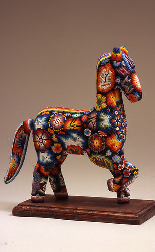 El Caballo: The Horse in Mexican Folk Art, bead horse, 2003, Wood, beeswax, and glass beads