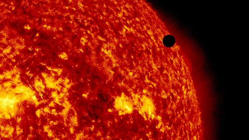 SDO's Ultra-high Definition View of 2012 Venus Transit m 304 Angstrom