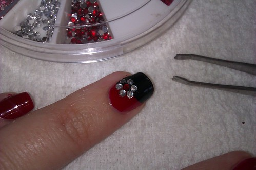The Enchanting Simple rhinestone nail designs Picture