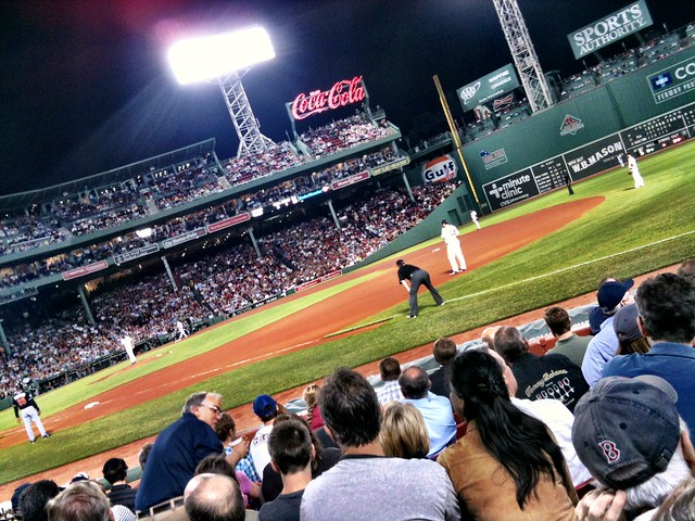 Spoiled by the sweet seats we scored to the Red Sox game