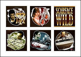 free Scarface slot game symbols