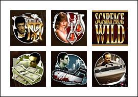 free Scarface slot game symbols