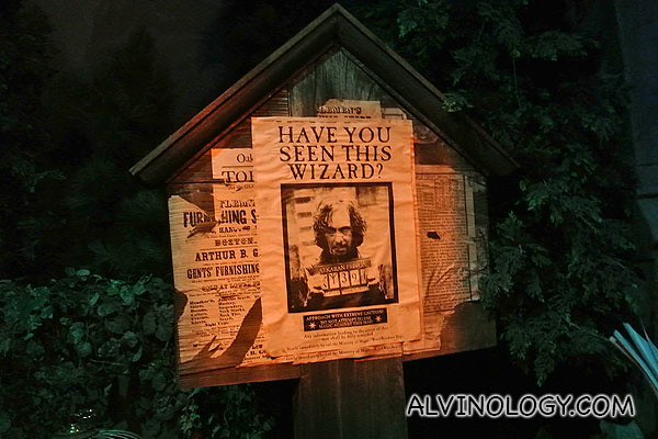 Wanted poster from the movie set