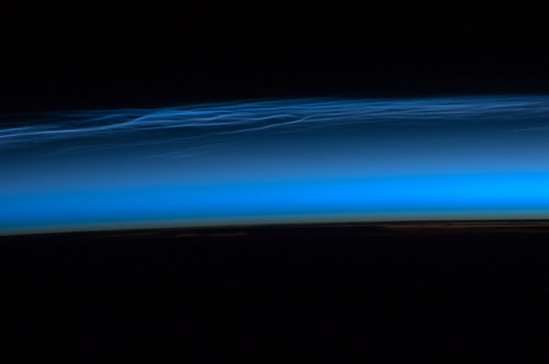 Polar Mesospheric Clouds Over Tibetan Plateau (NASA, International Space Station, 06/13/12)