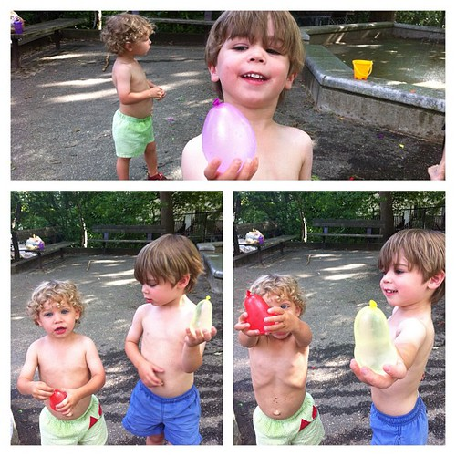 Nothing better than water balloons on a hot day
