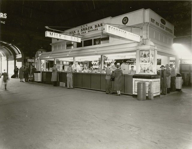 Central Railway Station, Sydney - exterior of milk bar