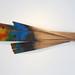 Argo, 2012, pigmenti in aspersione su doghe, cm 244X60
