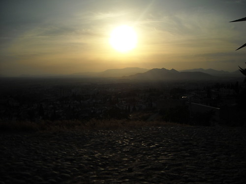 Sunset over Granada mountains