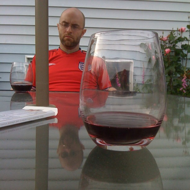 patio wine with Iain