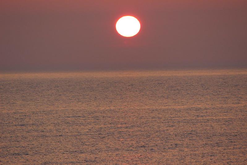 桃岩荘からの夕日 その2