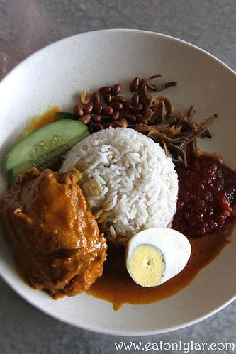 Nasi Lemak Kari Ayam, The Warung