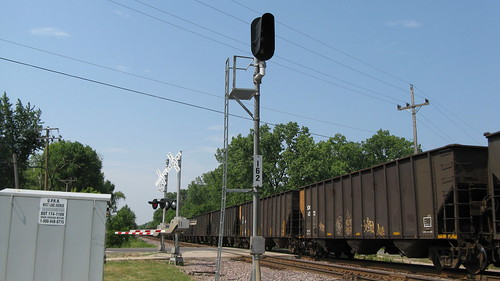 Northbound CSX unit coal train.  Glenview Illinois. Thursday, June 28th, 2012. by Eddie from Chicago
