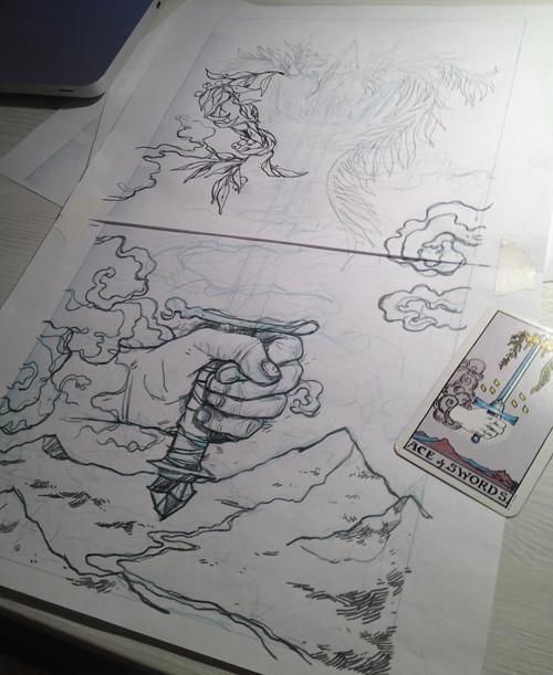 Progress for Ace of Swords Tarot card - 7.8.12
