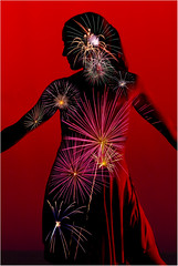 Dancer Bursting With Light