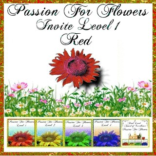 Passion for flowers invito livello 1 Red