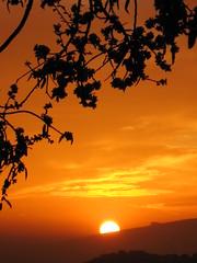 El sol tras La Gomera - The sun behind La Gomera