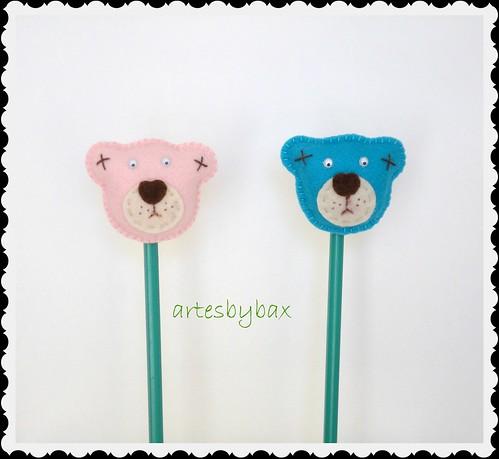 Ponteiras de lápis ursos by artesbybax - Carmen