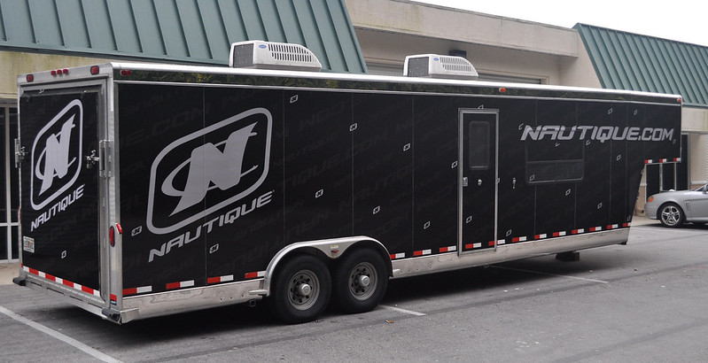 Trailer vehicle wrap by TechnoSigns in Florida