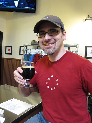 a very happy man w/ a sour beer