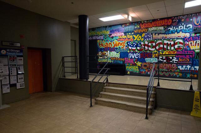 HI-Chicago エレベーターホール