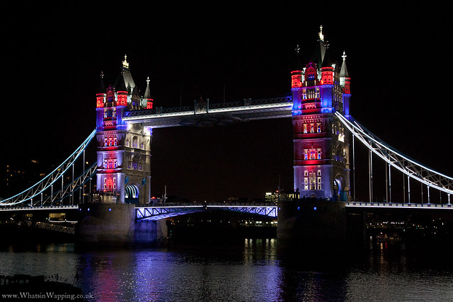 Tower Bridge light display