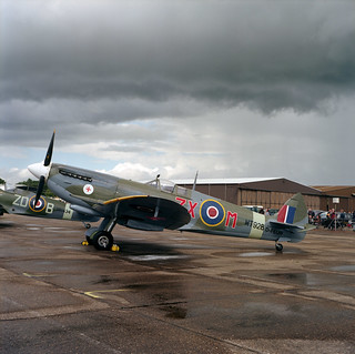 Duxford - Medium format - Supermarine Spitfire Mark VIII, MT928, D-FEUR