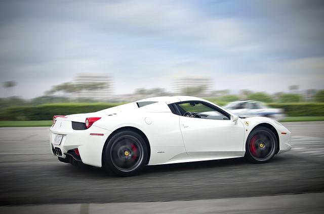 White Ferrari 458 Spider | White Ferrari 458 Spider ...