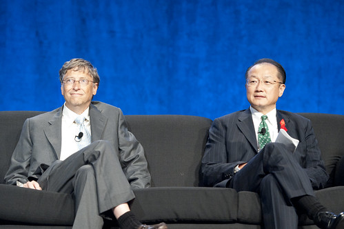 World Bank President Jim Yong Kim and Bill Gates at the International AIDS Conference, Washington DC