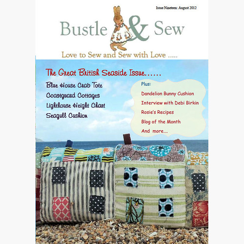 Bustle & Sew August e-zine