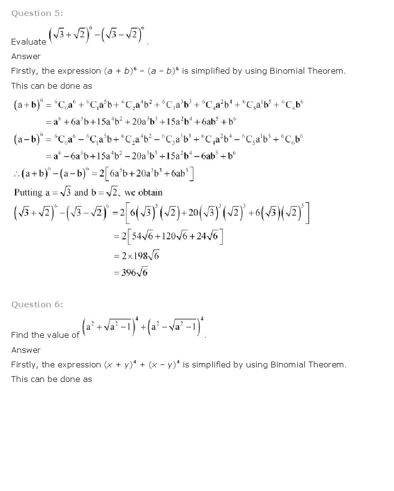 worksheet Binomial Theorem Worksheet Pdf ncert solutions for class 11 maths chapter 8 binomial theorem 11th solution is given below