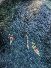 8 Kayaks on the Chicago River by doug.siefken