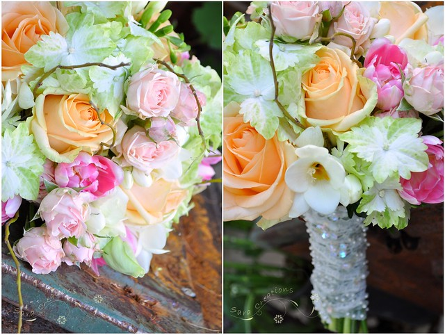 pastel spring bride bouquet