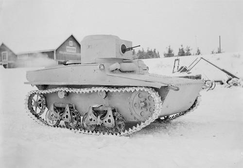 Captured by the Finns  Soviet light amphibious tank T-37A
