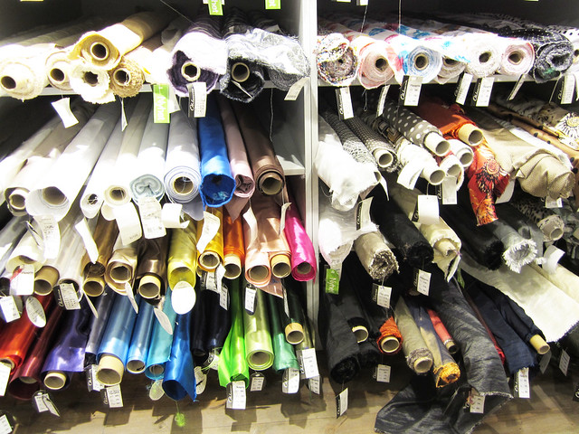 Week in the Life: Fabric store browsing