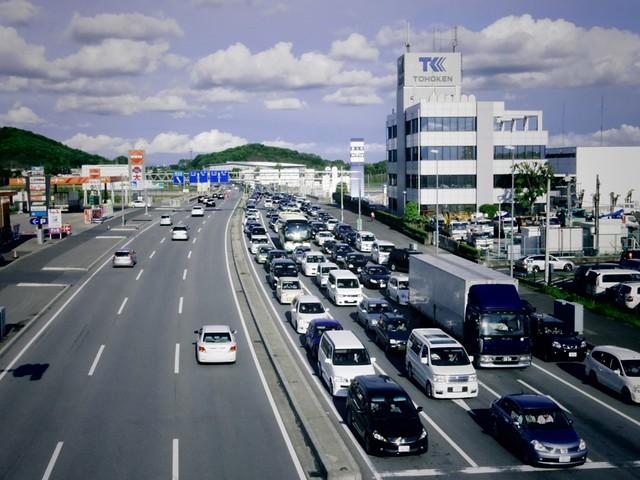 国道50号の渋滞