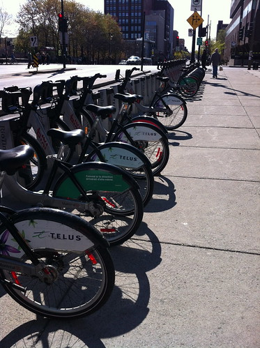 Bixi rack by the bus station