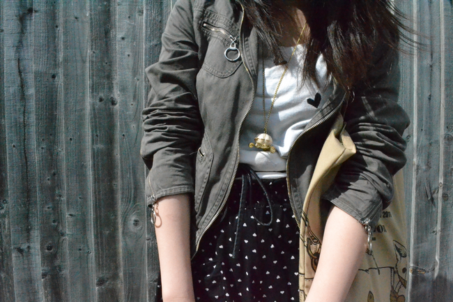daisybutter - UK Style and Fashion Blog: what i wore, print clash, SS12, topshop, warehouse, ever ours, the lucky one
